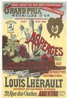PUBLICITE ANCIENNE - ASPERGES LHERAULT - ARGENTEUIL - FORMAT CP - Advertising