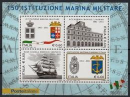 """Italia - Repubblica 2011 """"150º Anniversario Della Marina Militare, Nuovo In Foglietto - Blocchi & Foglietti"""