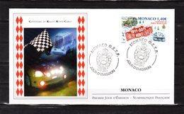 """"""" CENTENAIRE DU RALLYE DE MONTE-CARLO """" Sur Enveloppe 1er Jour De MONACO De 2011. N° YT 2759. Parf état. FDC - Automobile"""