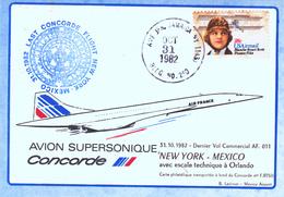 Etats Unis Vol Concorde Air France New York Mexico 31/12/82 - United States
