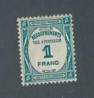 FRANCE - TAXE N°YT 60 NEUF* AVEC CHARNIERE - COTE YT : 17€ - 1927/31 - Taxes