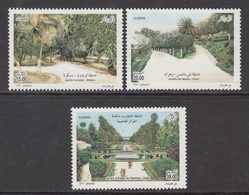 2007 Algeria Algerie  Gardens Jardins Trees   Complete Set Of 3 MNH - Algerije (1962-...)