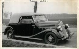 PHOTO ORIGINALE 1936 VIEILLE AUTOMOBILE CABRIOLET RENAULT FORMAT  13.50 X 9 CM - Automobile