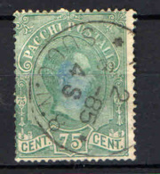 ITALIA REGNO - 1884 - EFFIGIE DEL RE UMBERTO I - 75 CENT. - USATO - 1878-00 Humbert I.
