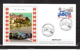 """"""" 70ème GRAND PRIX DE MONACO """" Sur Enveloppe 1er Jour De MONACO De 2012. N° YT 2823. Parf état. FDC - Automobile"""