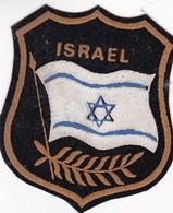 COAT ESCUDO PAÑOLENCI TERCIOPELO VELVET ISRAEL BANDERA FLAG SIZE 7X8CM - BLEUP - Blazoenen (textiel)