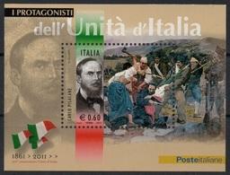 """Italia - Repubblica 2011 """"Protagonisti Dell'Unità D'Italia, Carlo Pisacane"""" Nuovo In Foglietto - 6. 1946-.. Repubblica"""