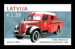 Latvia 2019 Mih. 1075 Automobile. Fire Engine Ford Vairogs MNH ** - Lettland