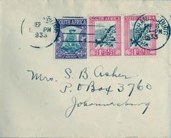 1933 , AFRICA DEL SUR , SOBRE CIRCULADO , JOHANNESBURG - INTERIOR , VOORTREKKER MONUMENT  , PIONEROS , BOERS - Cartas
