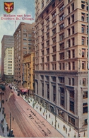 1910 , CHICAGO , TARJETA POSTAL CIRCULADA , MADISON EAST FROM DEARBORN ST. CHICAGO - Chicago