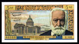 5NF Victor Hugo  02.05.1963 - U 105 - SUP+ - Fay : 56.14 - 5 NF 1959-1965 ''Victor Hugo''