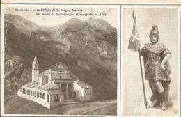 CASTELMAGNO SANTUARIO E EFFIGIE DI SAN MAGNO MARTIRE - FORMATO PICCOLO - VIAGGIATA ANNI '20 - (rif. I13) - Cuneo