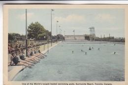 1950'S CPA CANADA- ONE OF THE WORLD'S LARGEST HEATED SWIMMING POLS, SUNNYSIDE BEACH, TORONTO.  - BLEUP - Toronto