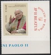 """Italia - Repubblica 2011 """"Beatificazione Di Papa Giovanni Paolo II €. 0,60"""", Nuovo - 6. 1946-.. Republic"""