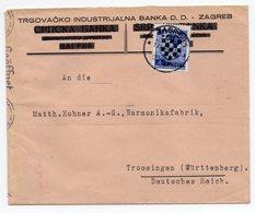 1942 WW2, NDH, CROATIA, ZAGREB TO GERMANY, HOHNER ACCORDION MANUFACTURER, CENSORED - Croatia