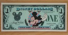 Etat-Unis D'Amérique 1 Disney Dollar 1987 Revers Château - Collections