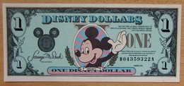 Etat-Unis D'Amérique 1 Disney Dollars 1990 Revers Château - Collections