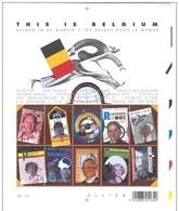 Blok 108** 3235/44 XX This Is Belgium - Bloc 108 MNH Des Belges Dans Le Monde- Belgen In De Wereld - Blocks & Sheetlets 1962-....