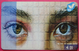 Kosovo Prepaid Phonecard, 20 Euro. Operator VALA, *Eyes*, Serial # 31...... - Kosovo