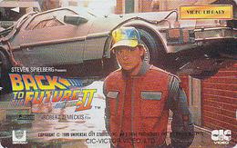 Télécarte Japon / 110-011 - CINEMA - BACK TO THE FUTURE ** MICHAEL J. FOX  - MOVIE Japan Phonecard - KINO TK - 11413 - Cinéma