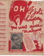40 60 SWING DEARLY CLERICE  PARTITION OH LE JOLI CHAPEAU MADAME JOHNNY B. GUITARE ACCORDÉON MOTTART LOUVAIN BELGIQUE - Música & Instrumentos