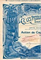 Titre Ancien - Les Produits Du Mayombe Sté Anonyme - Titre De 1899 - N° 01.180 - VF - Déco *** - Rare - Afrika