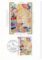 Carte Maximum 1989 - Oeuvre De Lapicque : Régates Vent Arrière YT 2606 - 21 Dijon - 1980-89