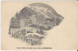 74 CHAMONIX HOTEL MODERNE VICTORIA VALLEE DE CHAMONIX MONT BLANC CACHET FERROVIAIRE CHAMONIX AU FAYET - Chamonix-Mont-Blanc