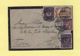 Allemagne - Bad Munster - 31-7-1922 - Destination France - Deutschland