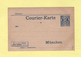 Allemagne - Entier Postal - Poste Privee - Courier Karte Privat Stadtpost - Germany