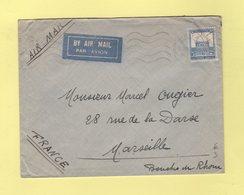 Palestine - Jaffa - 1935 - Par Avion Destination Marseille - Palestine