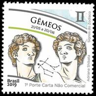 BRAZIL 2019  -  SIGNS OF THE  ZODIAC -  GEMINI   - HOROSCOPE - MINT - Brazil