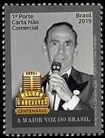 BRAZIL 2019  - BIRTH CENTENARY OF SINGER NELSON GONÇALVES  - MINT - Brazil