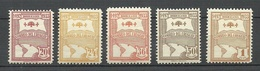 URUGUAY 1933 Michel 486 - 490 * - Uruguay