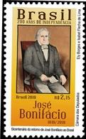 BRAZIL 2019 - Bicentennial Of José Bonifácio's Return To Brazil  - Serie  200 Years Of Independence   -   MINT - Brazil