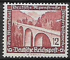 GERMANIA REICH TERZO REICH 1936 SOCCORSO INVERNALE UNIF. 587  MLH VF - Nuevos