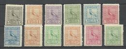 URUGUAY 1923 Michel 267 - 278 Kiebitz * 2 Stamps Are Signed - Uruguay