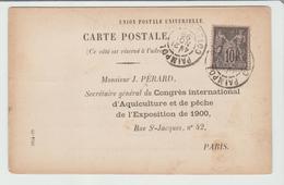 """Côte Du Nord :  PAIMPOL EXPO 1900 """" Congrés International D'Aquiculture ...  1899 TB - Postmark Collection (Covers)"""