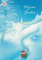 Postal Stationery - Birds - Bullfinches - Elf Driving Reindeer Sleigh - Red Cross 2005 - Suomi Finland - Postage Paid - Finlandia