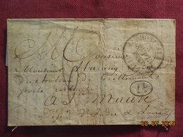 Lettre De 1830 De Honfleur à Destination De Ste Maure - Marcophilie (Lettres)