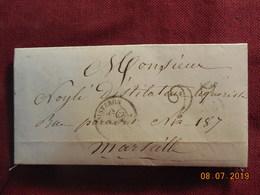 Lettre De 1851 De Sisteron à Destination De Marseille -grands Chiffres- - 1849-1876: Période Classique
