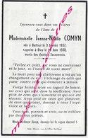 En 1968  Bailleul (59) Jeanne Noëlla COMYN - Décès