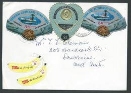 Tonga 1974 Cover With 2 X 1973 Scout Jubilee 5s & 2s Queen Memorial Adhesives To Western Australia - Tonga (1970-...)