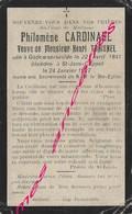 En 1927 Godewaersvelde Et Saint Jans Cappel (59) Philomène CARDINAEL Née 1841 Ep Henri TRAISNEL - Décès