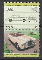 2 TIMBRES NEUFS DE NEVIS - AUTOMOBILE ROLLS ROYCE CORNICHE N° Y&T 265/266 - Cars