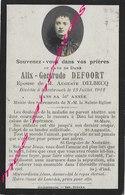 En 1912 Hazebrouck (59) Photo  Alix DEFOORT Ep Auguste DELBECQ - Obituary Notices