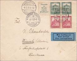 Brief Von Karlsruhe Nach Zürich 1932 - Luftpost - Allemagne