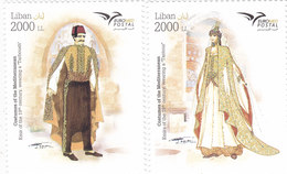 Lebanon-Liban - New Issue 2019,Euromed Costume Joint & Common Issue 2v.cpl.set MNH- SKRILL PAYMENT ONLY - Lebanon