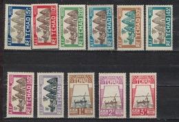 TCHAD         N°  YVERT  :  TAXE  12/22 ( T13.14 Neuf Sans Gomme)    NEUF AVEC  CHARNIERES      (  CH 2/33 ) - Chad (1922-1936)