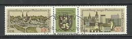 Germany DDR 1976 Michel 2153 - 2154, Stripe, Philatelistentag In Gera, O - [6] République Démocratique